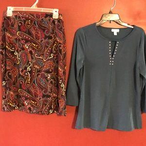 Skirt matching top